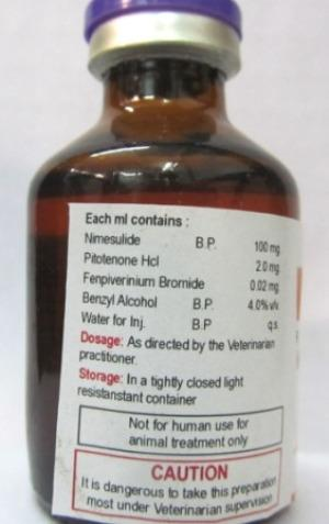 Veterinary Nimesulide Paracetamol Injection - Veterinary Nimesulide Paracetamol Injection