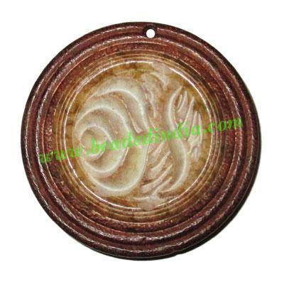 Handmade wooden fancy pendants, size : 43x9mm - Handmade wooden fancy pendants, size : 43x9mm