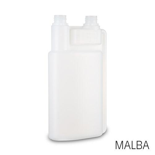 rHDPE dosing bottle Malba / made of recyclate - recyclate dosing bottle / recycled dosing botttle
