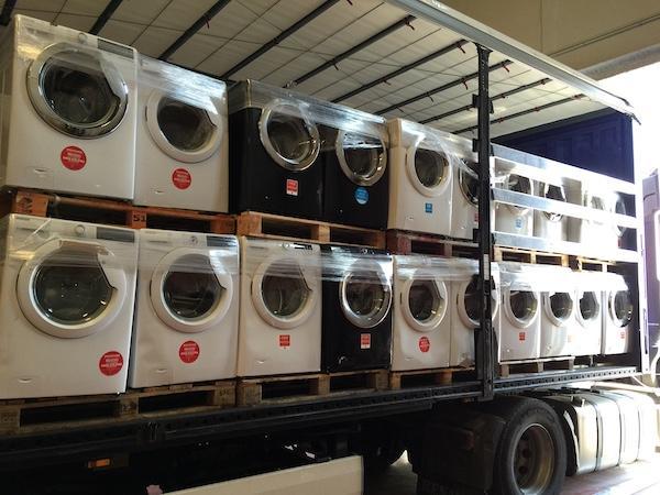 washing machines lot - camiones de lavadoras