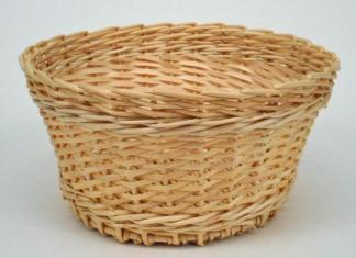 Corbeille à pain en osier naturel. - null