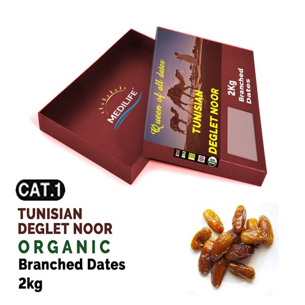 Organic Branched Dates  - Organic Branched Dats Deglet Nour, Packed 2 kg