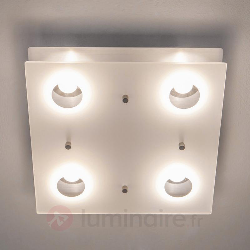 Plafonnier LED Filian carré à 4 lampes - Plafonniers LED