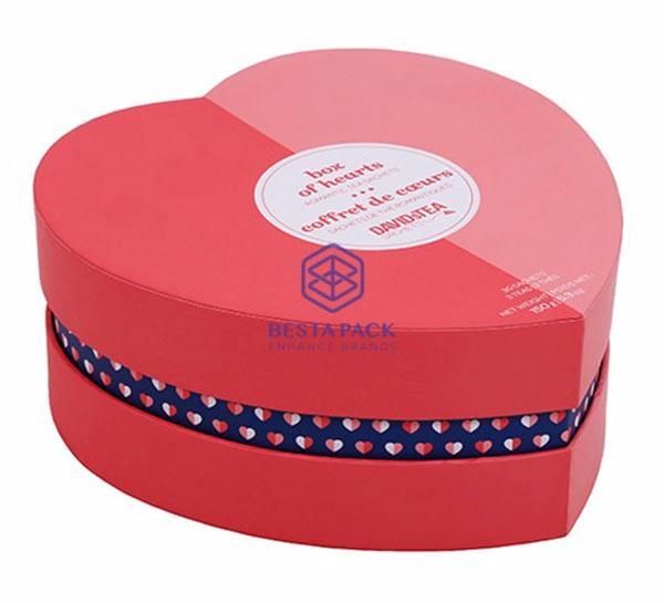 Hjärtformad låda - Hjärtformad låda med permanent avdelare