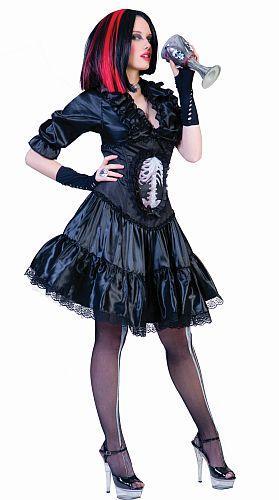 Costume sorcière squelette, stock limité - null