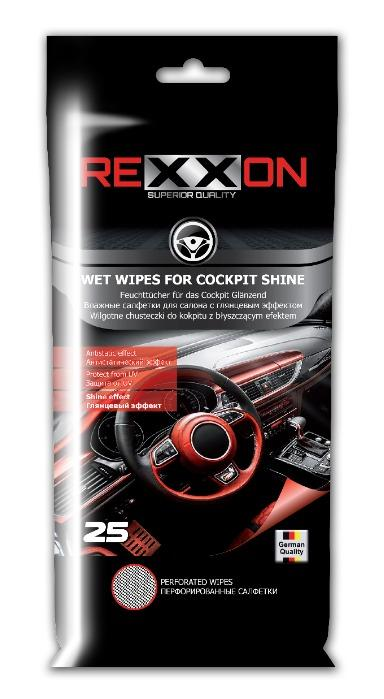 REXXON Wet Wipes For Cocpit Shine 25 pcs  -