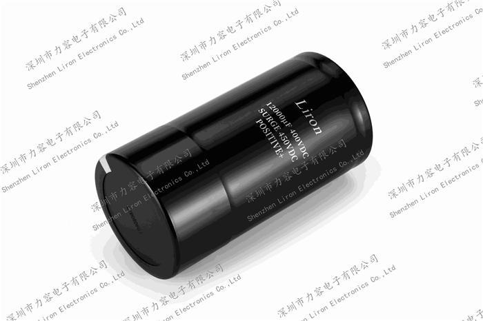 Liron LCT 105 centigrade screw terminal aluminum electrolytic capacitor - SCREW TERMINAL CAPACITOR