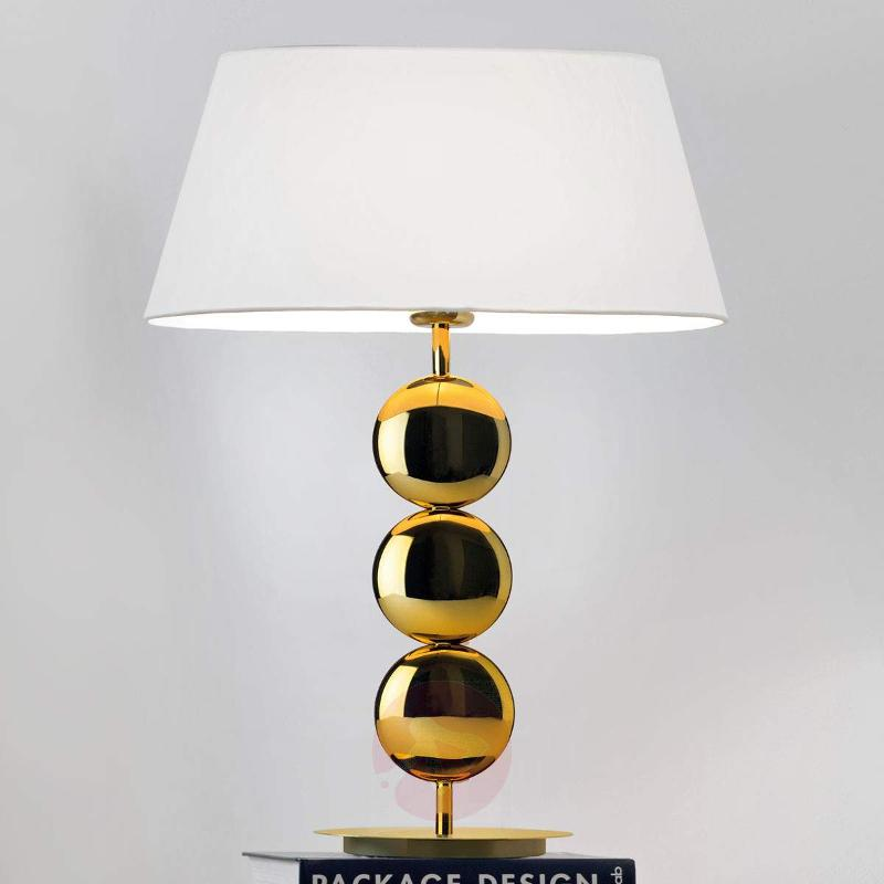 Oval table lamp Sofia with golden base - Table Lamps