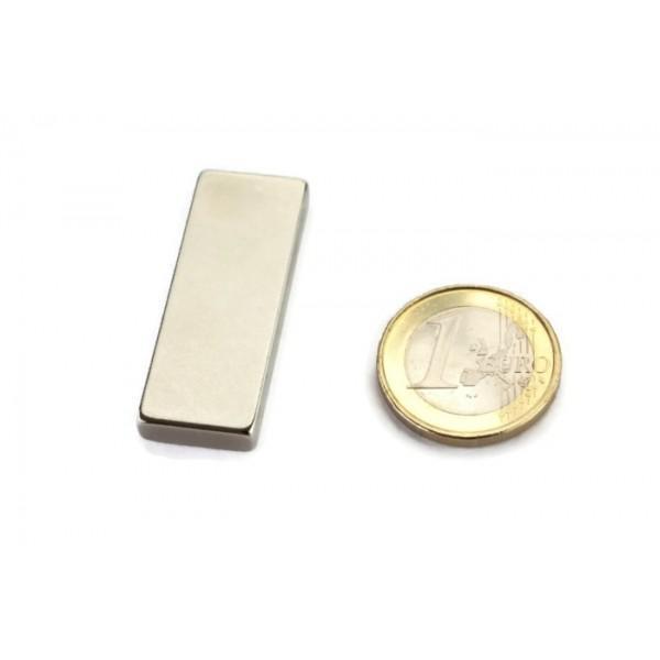 Block magnet, Neodymium, 40x15x5mm, N40, Ni-Cu-Ni,... - null
