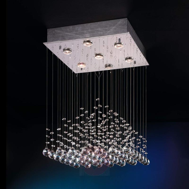 Exclusive hanging light Estratos with crystals - design-hotel-lighting