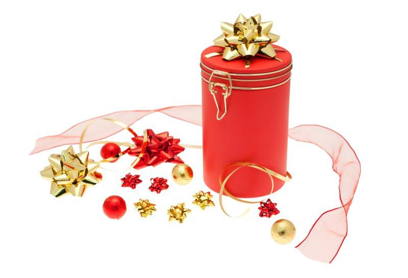 christmas tins - different shapes and styles from stock available with individual finishing