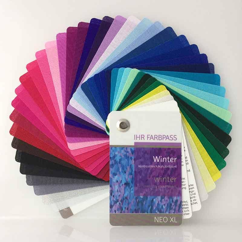Farbpass aus Stoff Neo XL - Farbtyp Winter