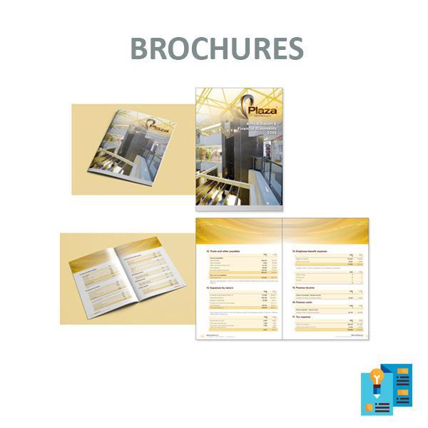 Brochures, depliant, presentazioni aziendali