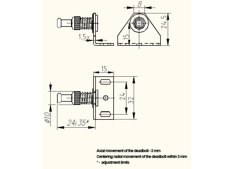 Promix-ad.db.09 Deadbolt - Accessories for locks