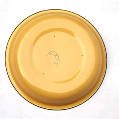 Pure color enamel plate 16 cm - 16 cm