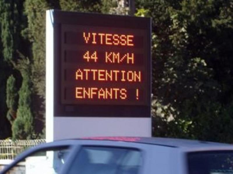 Radars préventifs led -  Afficheur sécurité et prévention