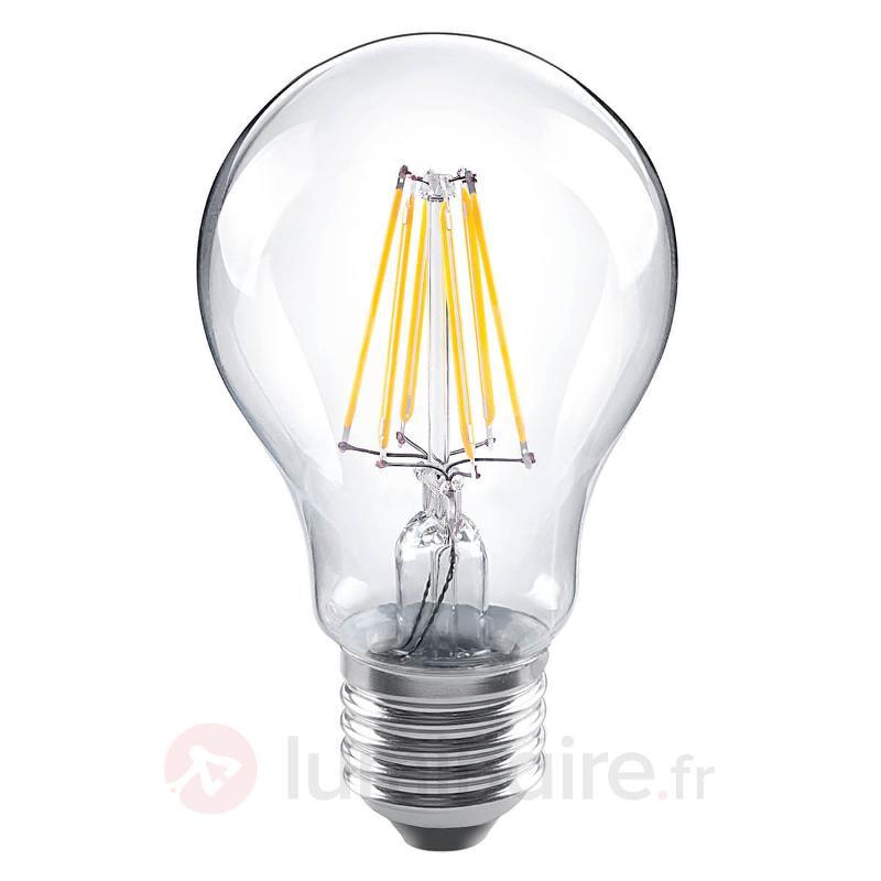 Ampoule LED à filament E27 8W 826, transparente - Ampoules LED E27