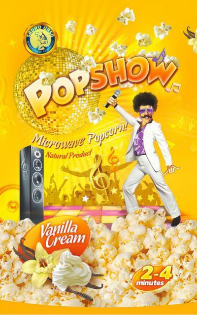 MICROWAVE POPCORN  - MICROWAVE POPCORN WITH VANILLA CREAM FLAVOUR