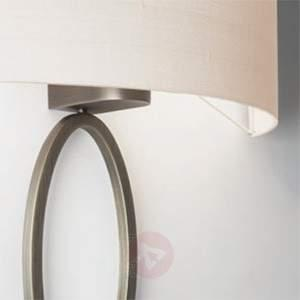 Wall light Valbonne with a white lampshade, nickel - Wall Lights