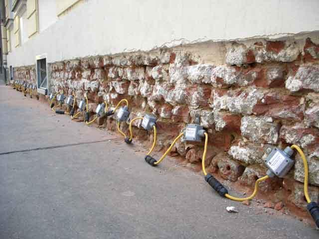 Heizstäbe für Mauertrocknung - Sanierung