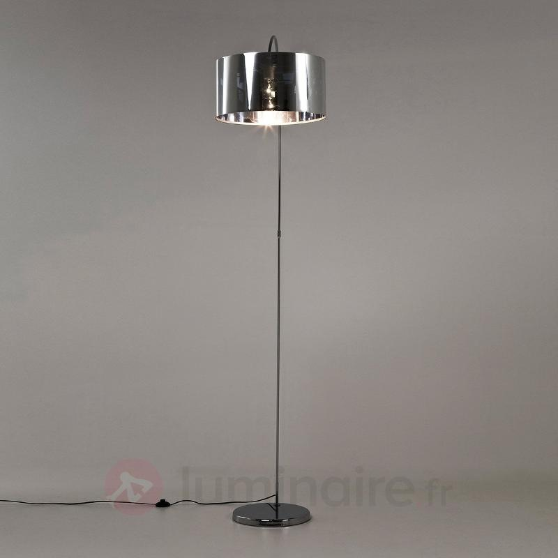 lampadaire arqu gooseneck aspect chrom lampadaires. Black Bedroom Furniture Sets. Home Design Ideas