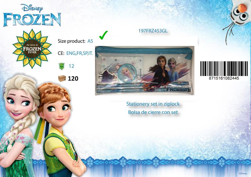 TROUSSE PLATE SET PAPETERIE - FROZEN2 - STATIONERY