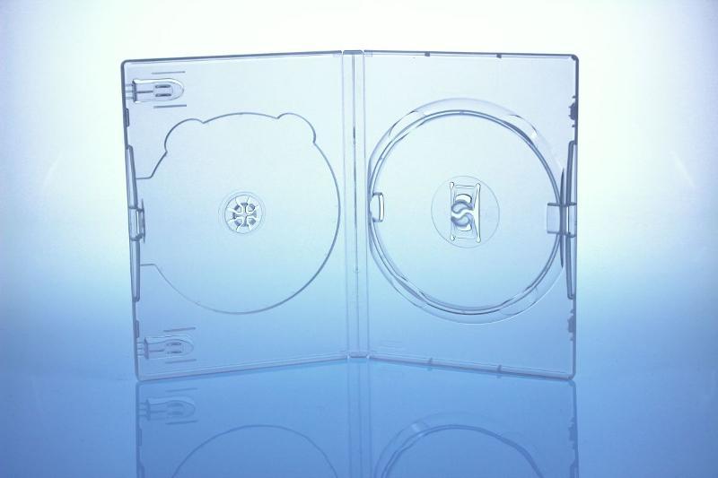AMARAY DVD Box 2-fach - 14mm - FOF - transparent - bulkware - DVD Hüllen