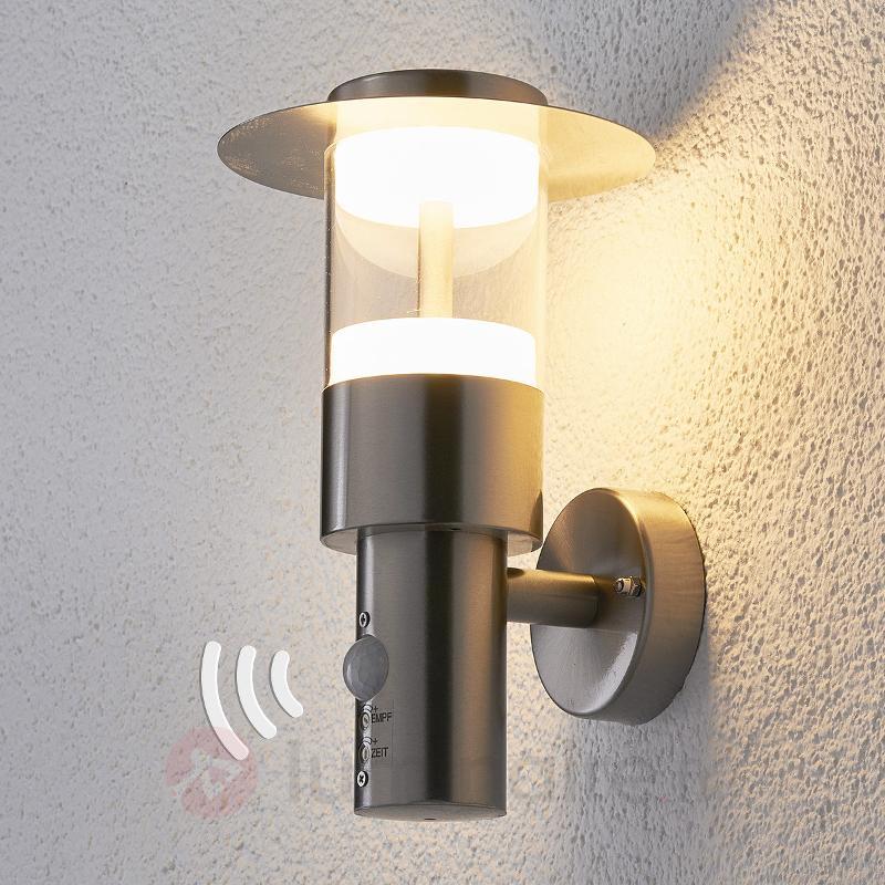 Applique d'extérieur LED Anouk à détecteur de mvt - Appliques d'extérieur avec détecteur
