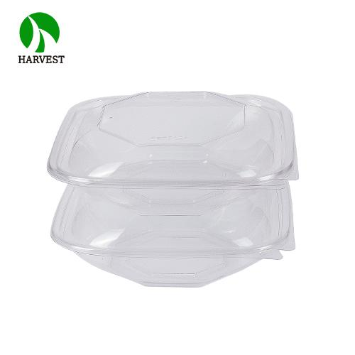 Food Grade Eco-friendly Pet Octagonal Salad Food Container Box - Salad Containers