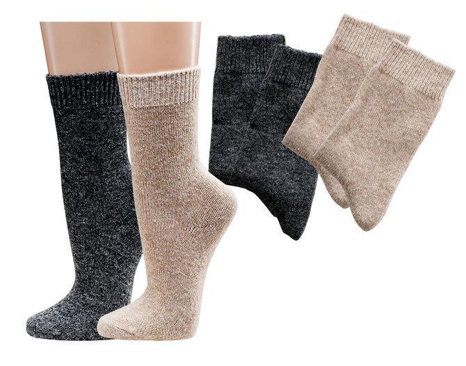 Socken mit Kaschmirwolle * 2er-Bündel - null