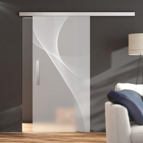 Modern Line 60, wall mounting with soft-close - Kraus sliding door set