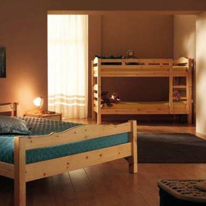 Sommier, mobilier, literie d'appoint - Lit superposé IBIS en bois massif avec sommiers