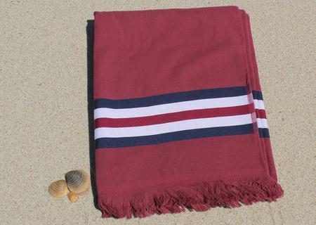 Toalha de praia  - Toalha de praia com fundo vermelho e azul