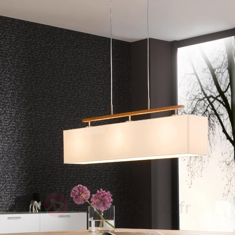 Suspension textile attrayante Casta blanche - Cuisine et salle à manger