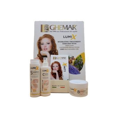 Trattamento idratante anticrespo per capelli secchi o ricci - Lumix