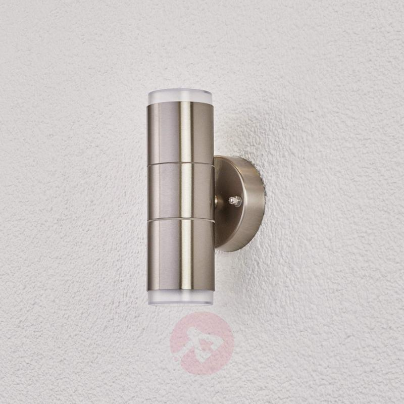 Stainless steel outdoor wall light Delina - stainless-steel-outdoor-wall-lights