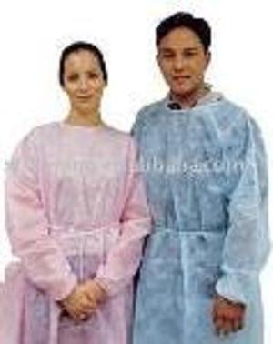 Одноразовые ПП больницы с длинными рукавами - Платье без рукавов / Изоляционное платье