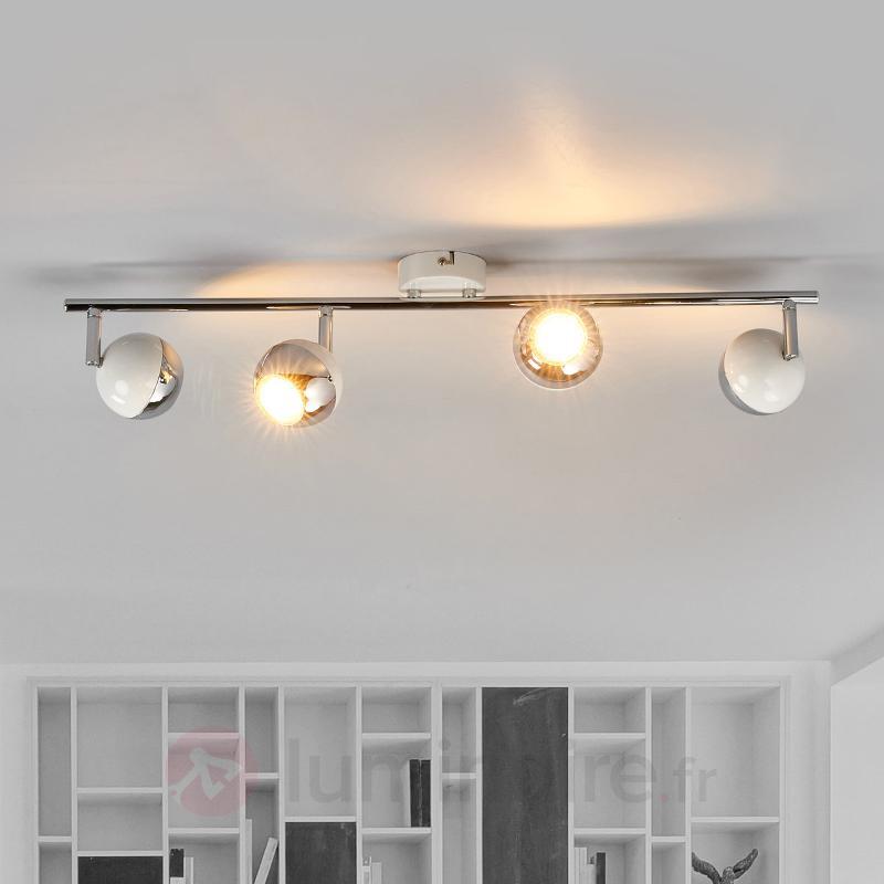 Projecteur de plafond à quatre LED Arvin en blanc - Spots et projecteurs LED