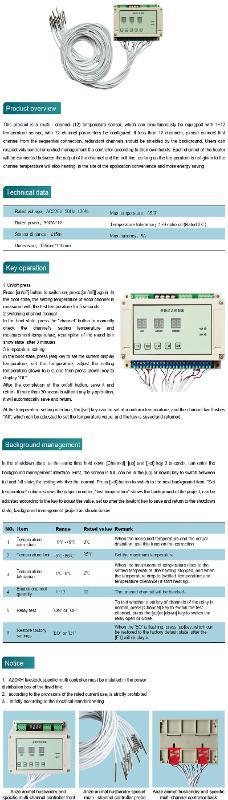 ANZE multi - channel temperature controller - Anze Thermostats Series