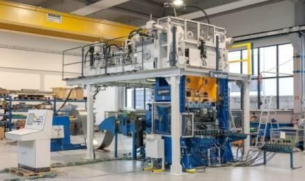 Fin sheet manufacturing line