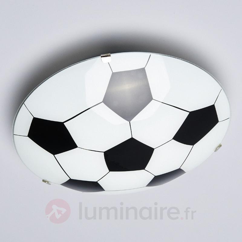 Plafonnier Football noir et blanc - Chambre d'enfant
