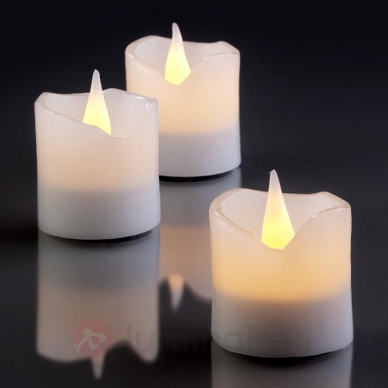 Set de 6 bougies en cire LED blanc - Bougies LED