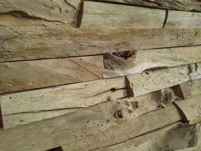 Mur de briques de bois flotté, Revetements, DECO-NATURE, France