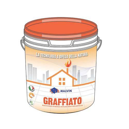 GRAFFIATO Rivestimento minerale acrilico antialga - Conforme alla direttiva 2004/42/CE