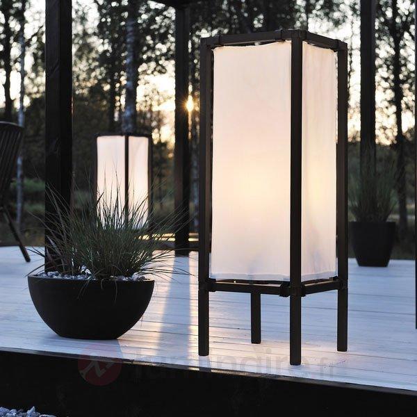 Lampadaire moderne NEW PALERMO en toile - Luminaires de terrasse