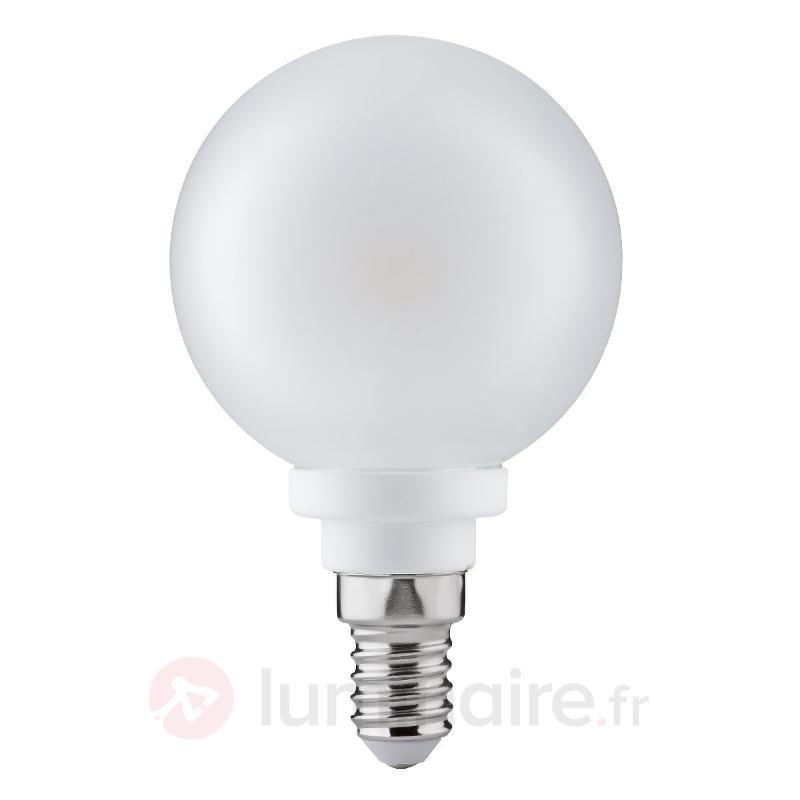 Ampoule globe LED E14 4W 827 60 satinée - Ampoules LED E14