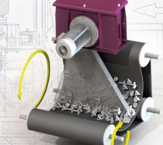 Muldenband-Strahlanlage - Muldengurt-Strahlanlagen  mit Füllvolumen von 50 Litern bis 550 Litern