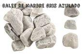 Galets de marbre - Galet gris azulado