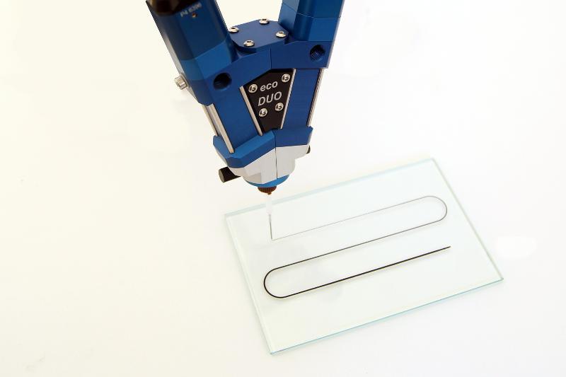 Verdrängerpumpe preeflow eco-DUO330  - 2K Misch- und Dosiersystem / viskositätsunabhängige Dosierung und Auftragung