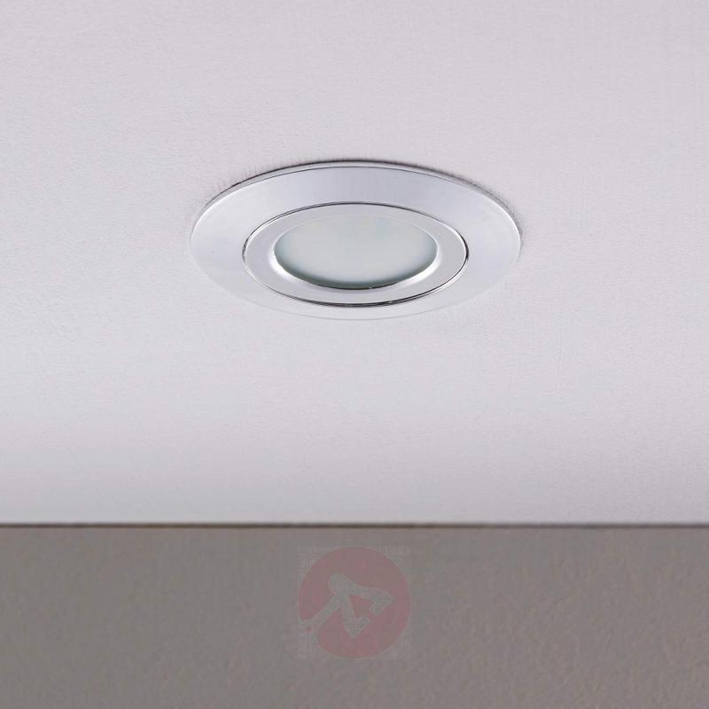 Chrome recessed light Andrej with LEDs - indoor-lighting